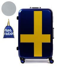 【正規品2年保証】イノベーター スーツケース innovator キャリーケース キャリーバッグ フレーム 60L 3~5泊 静音 旅行 トリオ INV58T サーフブルーxイエロー