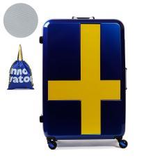 【正規品2年保証】イノベーター スーツケース innovator キャリーケース フレーム 90L 7泊 8泊 9泊 10泊 Lサイズ 軽量 旅行 INV68T サーフブルーxイエロー