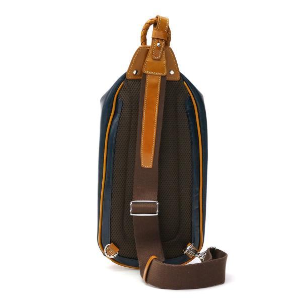 キーファーノイ ボディバッグ Kiefer neu ワンショルダーバッグ Ciao チャオ ワンショルダー タテ型 ボディーバッグ 斜めがけ メンズ レディース バッグ 本革 レザー 革 KFN1664C ブラックxネイビー(1073)