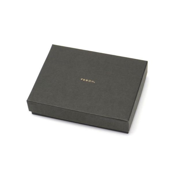 フェソン FESON 名刺入れ アドバン切目名刺入 メンズ レザー 本革 カードケース MI01-003【送料無料】 茶