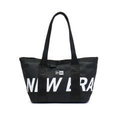【正規取扱店】ニューエラ バッグ NEW ERA トートバッグ ファスナー付き メンズ PRINT LOGO TOTE BAG MINI プリントロゴ ミニトート 6L レディース ブラックxホワイト