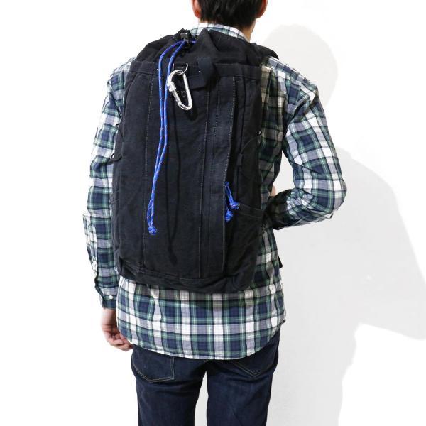 ポータークラシック リュック Porter Classic リュックサック ハードリネン HARD LINEN RUCKSACK バックパック デイパック メンズ レディース 巾着 日本製 PC-021-575 ブラック(10)