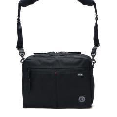 ポータークラシック ショルダーバッグ Porter Classic muatsu NEWTON SHOULDER BAG ショルダー 斜めがけ コンパクト 2層式 メンズ レディース 日本製 PC-050-955 ブラック(10)