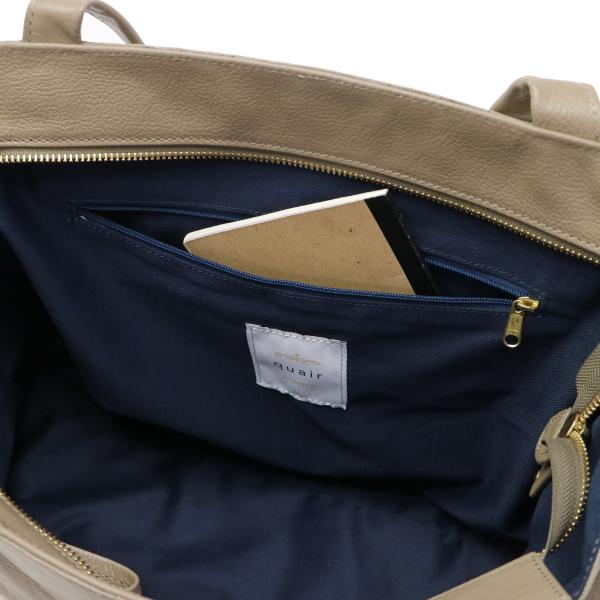 クアー バッグ quair ミオ mio トートバッグ レディース A4 本革 ファスナー付き Q210-2012 ブラック(10)