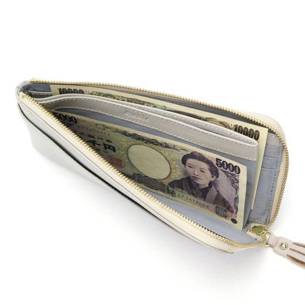 財布 レディース 長財布 本革 L字ファスナー スリム 薄い 大人可愛い クアー quair tuli おしゃれ Q211-1010 ブラック(10)