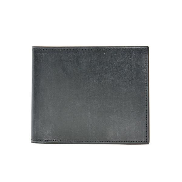 フェソン FESON 二つ折り財布 ブライドル切目札入 メンズ レザー 本革 小銭入れあり ST01-002【送料無料】 黒