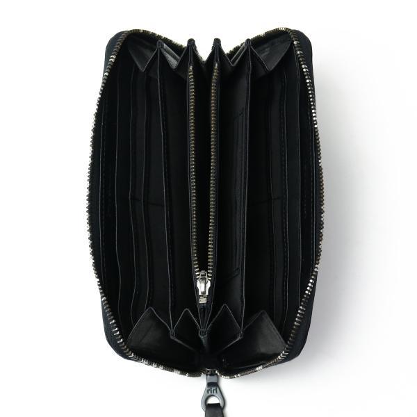 ソラチナ 長財布 SOLATINA 財布 メンズ 本馬革 ホース ラウンドファスナー SW-38153JK【送料無料】 ブラック