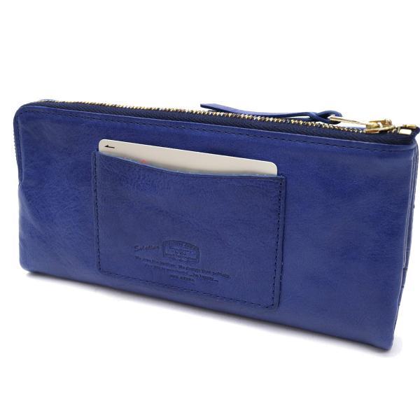 ソラチナ 長財布 SOLATINA 財布 本革 ブランド 2つ折り メンズ レディース SW-60051 ブルー