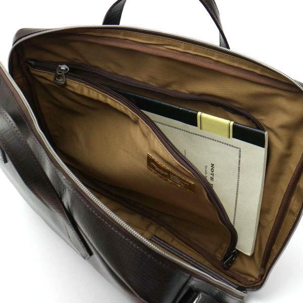 エルゴポック HERGOPOCH 3WAY ブリーフケース Travelers Series ビジネスバッグ (A4対応) 3方ファスナーブリーフ メンズ 本革 TV-BFT ダークブラウン