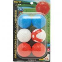 ライト Liteホローボール6個入り レッド/ホワイト/ブルー