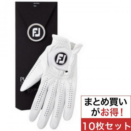 フットジョイ Foot Joy ピュアタッチ FGPUWT 10枚セット 21cm 左手着用(右利き用) ホワイト