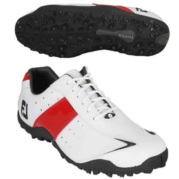 フットジョイ Foot Joy EXL スパイクレス シューズ 25.5cm 45134 ホワイト/レッド/ブラック