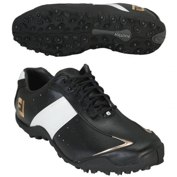 フットジョイ Foot Joy EXL スパイクレス シューズ 25cm 45178 ブラック/ホワイト/ゴールド