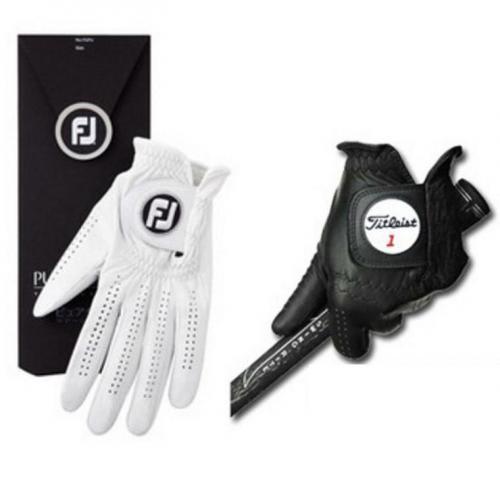 フットジョイ Foot Joyピュアタッチ+プロフェッショナル プロモデルグローブお買い得4枚セット 21cm 左手着用(右利き用) ホワイト×ブラック