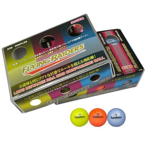 フライングレイダース 非公認球カラー6P FRBA-2117 半ダース(6個入り) イエロー、オレンジ/ブルー