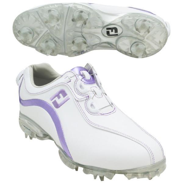 フットジョイ Foot Joy 13 WOリールフィットシューズ 25cm 93833 ホワイト/メタリックピンク レディス