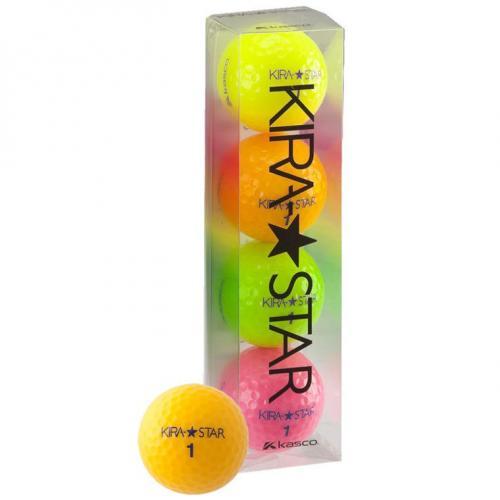 キャスコ KIRA KIRA☆STAR2 ボール 4球パック 4個入り 4色(イエロー/オレンジ/ピンク/ライム)