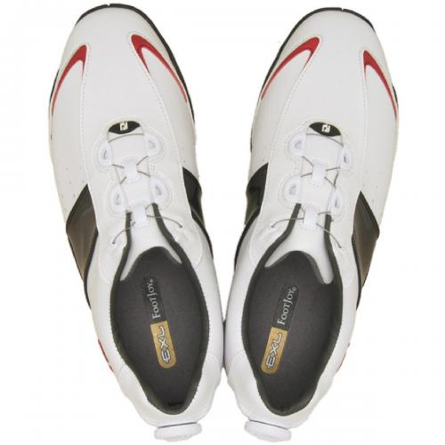15%OFFクーポン対象商品 フットジョイ Foot Joy 14 EXL SLBoaシューズ 24.5cm ホワイト/ブラック/レッド クーポンコード:CKJNNWW