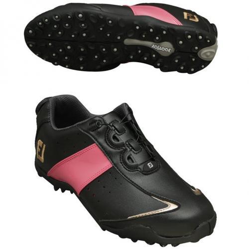 フットジョイ Foot Joy 14 ロープロSP SLBoaシューズ 24cm ブラック×ピンク×ゴールド レディス