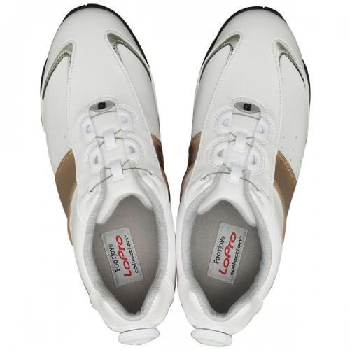 フットジョイ Foot Joy14 ロープロSP SLBoaシューズ 22.5cm ホワイト×シルバー×ゴールド レディス