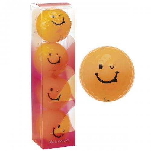 キャスコ KIRA KIRA SWEET キャラボール 1スリーブ(4個入り) 1スリーブ(4個入り) オレンジ レディス