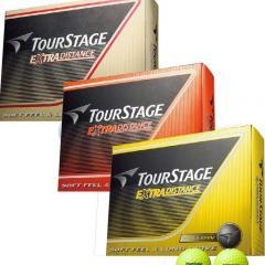 ブリヂストン TOURSTAGEエクストラディスタンス ボール 3ダースセット 3ダース(36個入り) ホワイト、イエロー、オレンジ