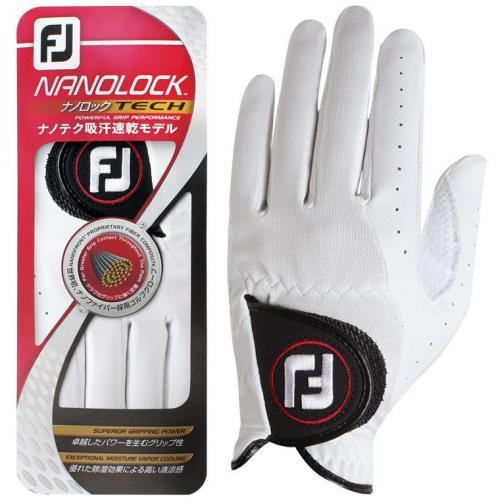 フットジョイ Foot Joy 14 ナノロックテックグローブ FGNTC14 21cm 左手着用(右利き用) ホワイト