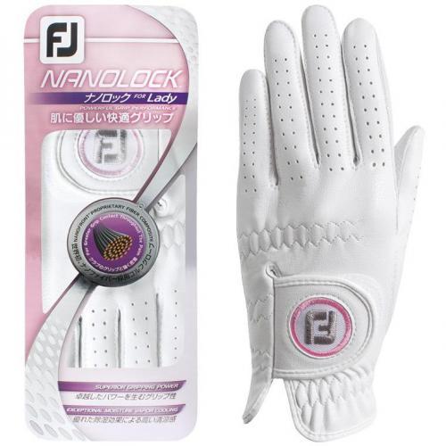 フットジョイ Foot Joy 14 ナノロックテックグローブ 両手用 FGNLPR4 2セット 20cm 両手用 ホワイト レディス