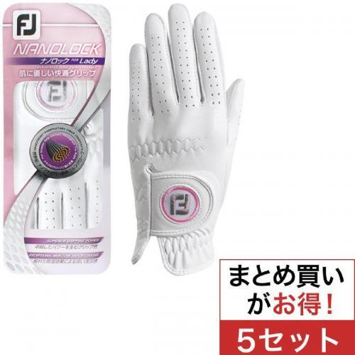 フットジョイ Foot Joy 14 ナノロックテックグローブ 両手用 FGNLPR4 5セット 21cm 両手用 ピンク レディス