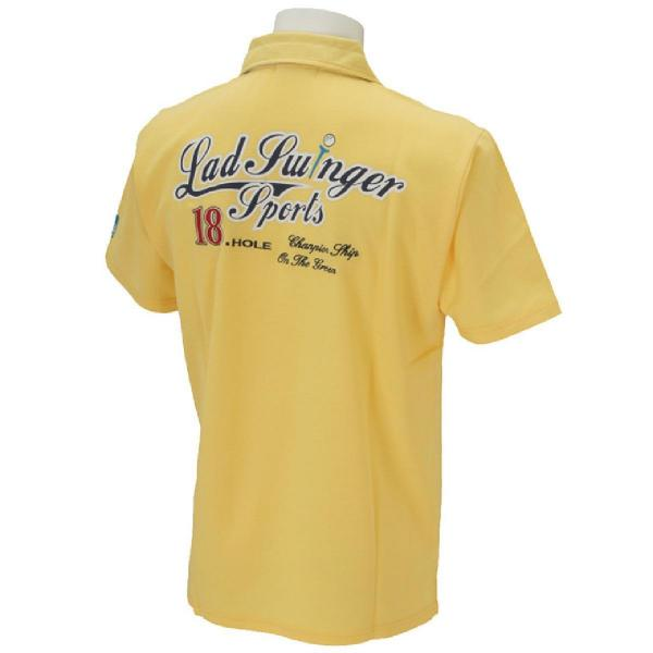 ラッド スウィンガー スポーツ LAD SWINGER SPORTS 鹿の子背中ロゴプリント半袖ポロシャツ 244702