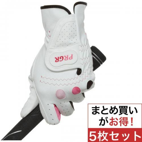 プロギア PRGR グローブ PGL-14 5枚セット 17cm 左手着用(右利き用) ブラック×パープル レディス