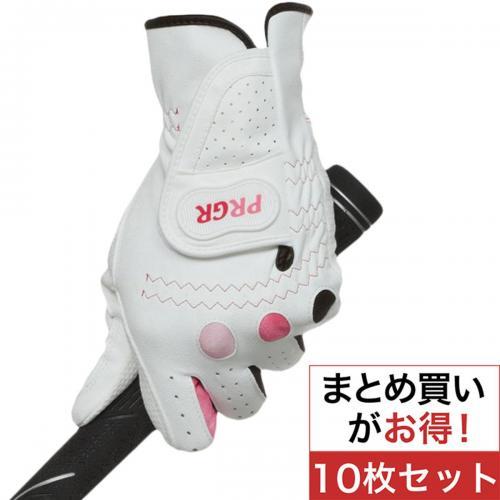 プロギア PRGR グローブ PGL-14 10枚セット 20cm 左手着用(右利き用) ホワイト/ピンク レディス
