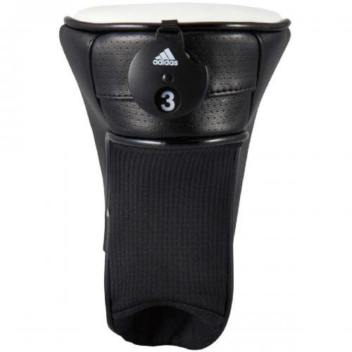 アディダス Adidas CORE ヘッドカバー UT用 QR856 有り/ダイヤル式(3、4、5、6、X) A15187 ブラック/シルバー