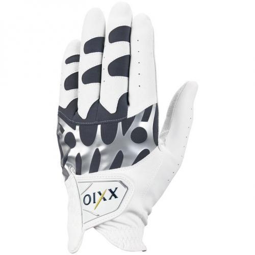 ダンロップ XXIO ゴルフグローブ レフティ GGG-X008R 25cm 右手着用(左利き用) ホワイト/グレー