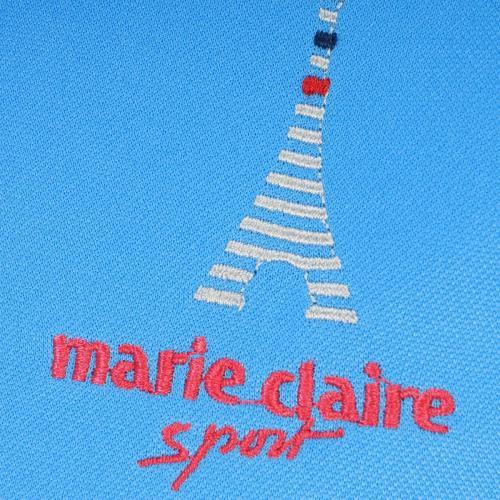 マリクレール marie claire長袖ハイネックインナーシャツ付き半袖シャツ レディス