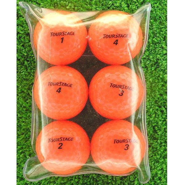 ロストボール Lost Ball メイホウゴルフ ロストボール ツアーステージ EXTRA DISTANCE 6個入り4パック24個セット 半ダース4パック(24個入り) オレンジ