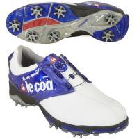 ルコックゴルフ Le coq sportif GOLF シューズ QQ0592 26cm ホワイト/ブルー XN10