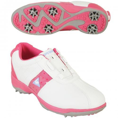 ルコックゴルフ Le coq sportif GOLF シューズ QQL0583 23cm ホワイト/ピンク XN10 レディス