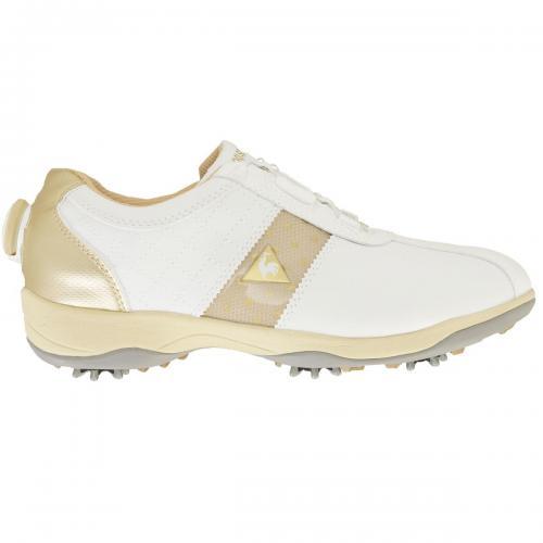 ルコックゴルフ Le coq sportif GOLF シューズ QQL0584 23.5cm ホワイト/シャンパンゴールド XN20 レディス