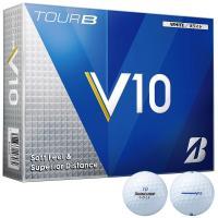 ブリヂストン TOUR B V10TOUR B V10 ボール 1ダース(12個入り) ホワイト