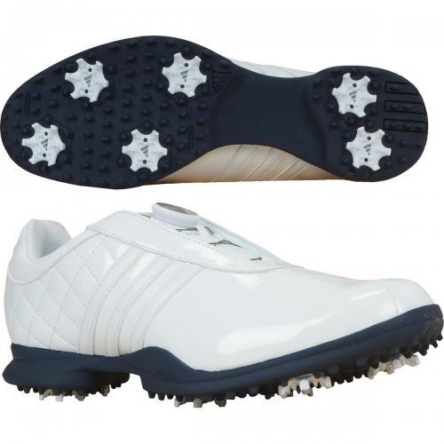 アディダス Adidas ドライバーボアリミテッド シューズ 23cm ホワイト/ホワイト/ネイビー F33396 レディス