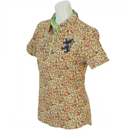 アドミラル Admiral 小花プリント 共衿 半袖ポロシャツ ADLA651 レディス