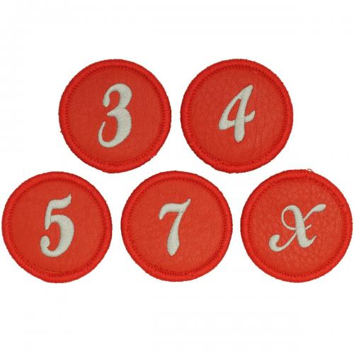 ヒールクリーク Heal Creek ヘッドカバー FW用 003-94861 有り/番手ワッペン式(3、4、5、7、X) レッド