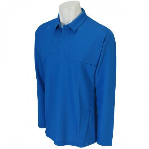 デサントゴルフ DESCENTE GOLF マナード鹿の子 長袖ポロシャツ DGM1036F