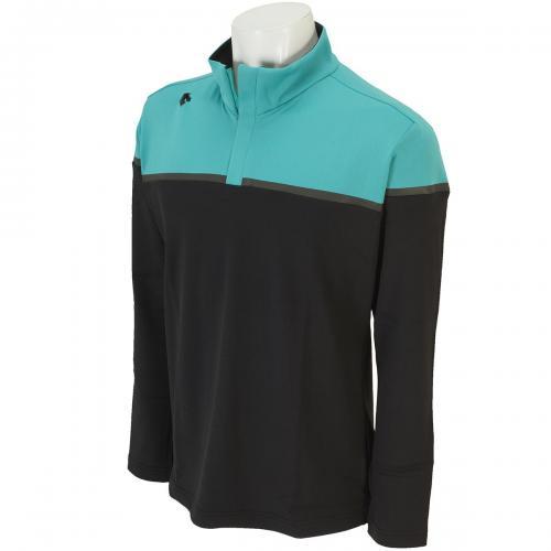 デサントゴルフ DESCENTE GOLF ストレッチウォーモトリコット保温 長袖ハーフジップシャツ DGM1096F