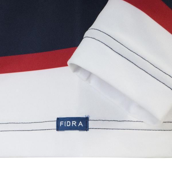 フィドラ FIDRA ストレッチボーダー総柄長袖シャツ P211468 レディス