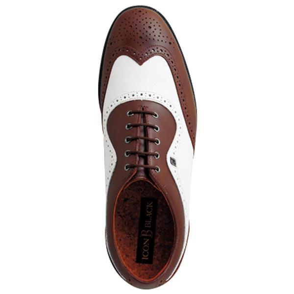 フットジョイ Foot Joy 17 アイコンブラック シューズ 26cm ホワイト/ブラウン