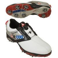 ルコックゴルフ Le coq sportif GOLF シューズ QQ0596 26.5cm ホワイト/シルバー/ブラック XN40
