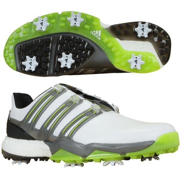 アディダス Adidas パワーバンド ボア ブースト シューズ WI926 27.5cm ホワイト/アイアンメタリック/ソーラースライム Q44848