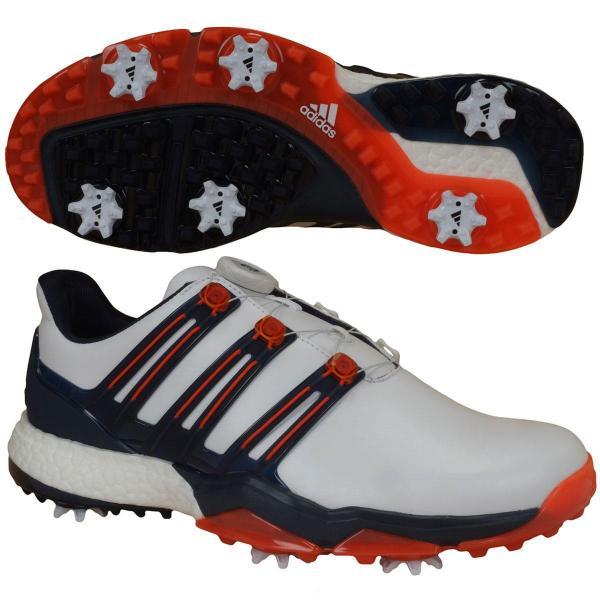 アディダス Adidas パワーバンド ボア ブースト シューズ WI926 27cm ホワイト/コアブラック/スカーレット Q44870